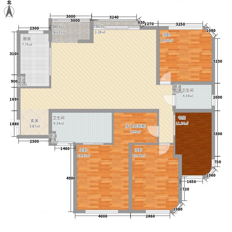 永乐阁户型3室2厅2卫1厨