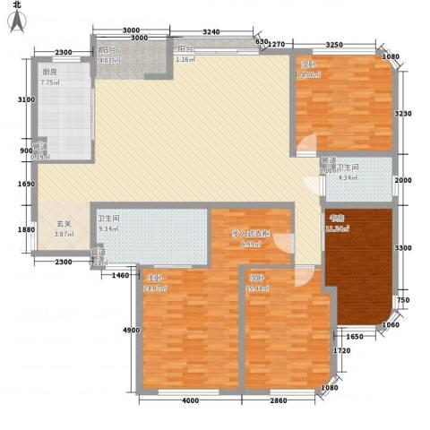 永乐阁4室1厅2卫1厨204.00㎡户型图