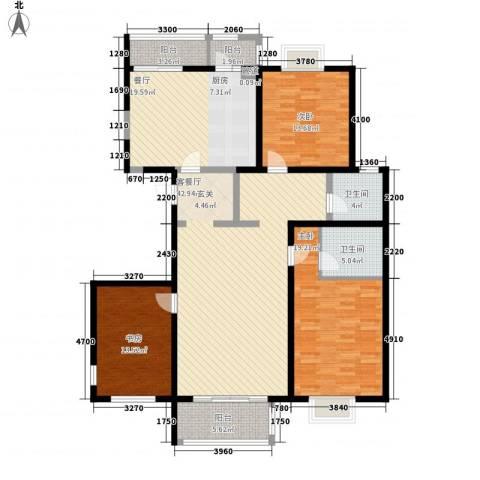 建国路100号3室2厅2卫0厨183.00㎡户型图
