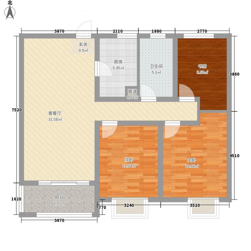 加州香山美树115.00㎡户型3室