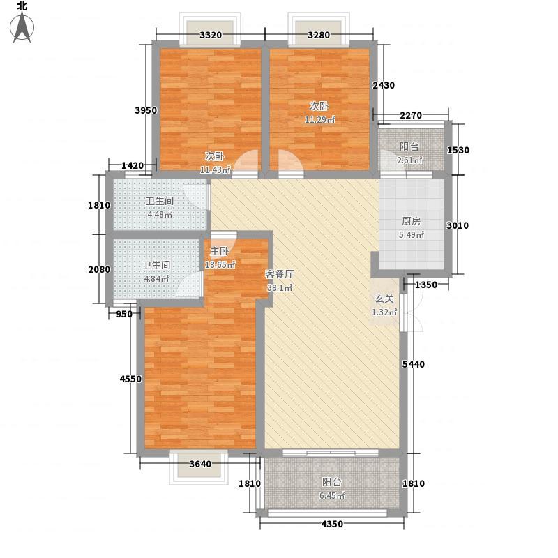 兴隆枫丹白鹭113.50㎡枫锦组团113.5㎡三房户型3室2厅2卫1厨