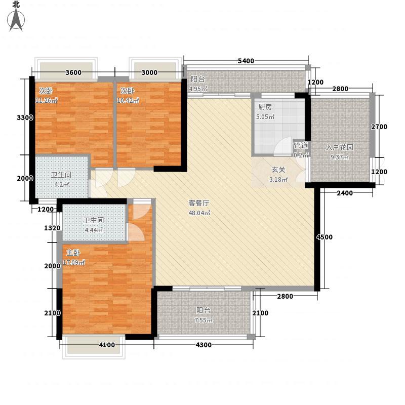 绿化路小区户型3室