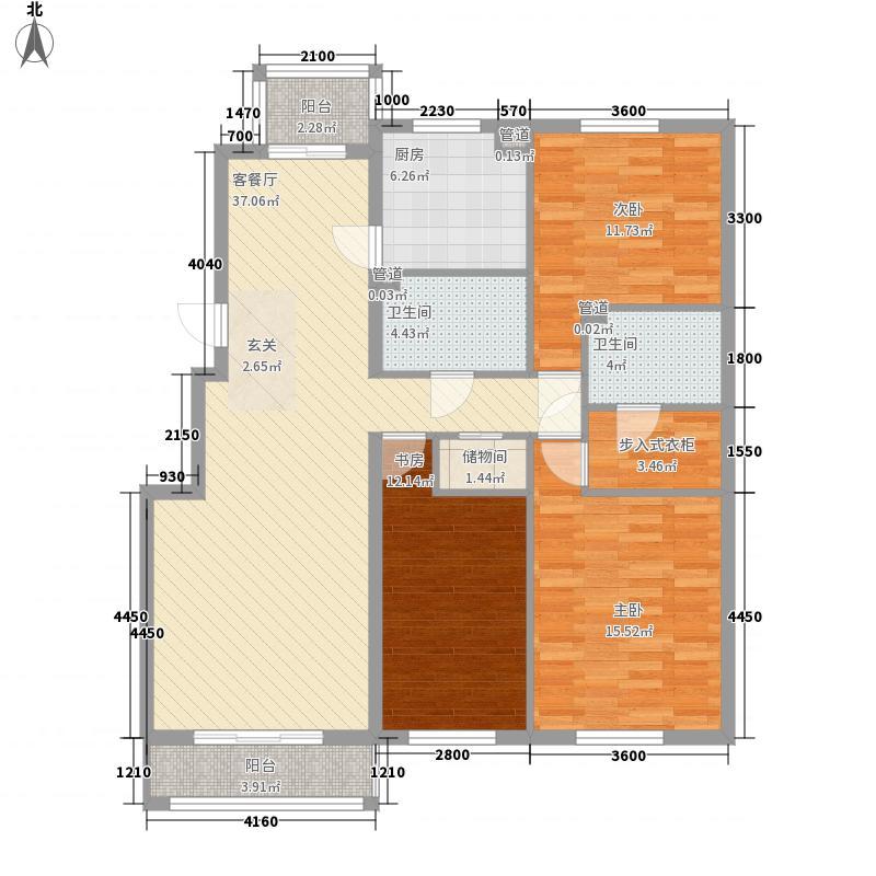 保利海棠花园户型图3室2厅2卫