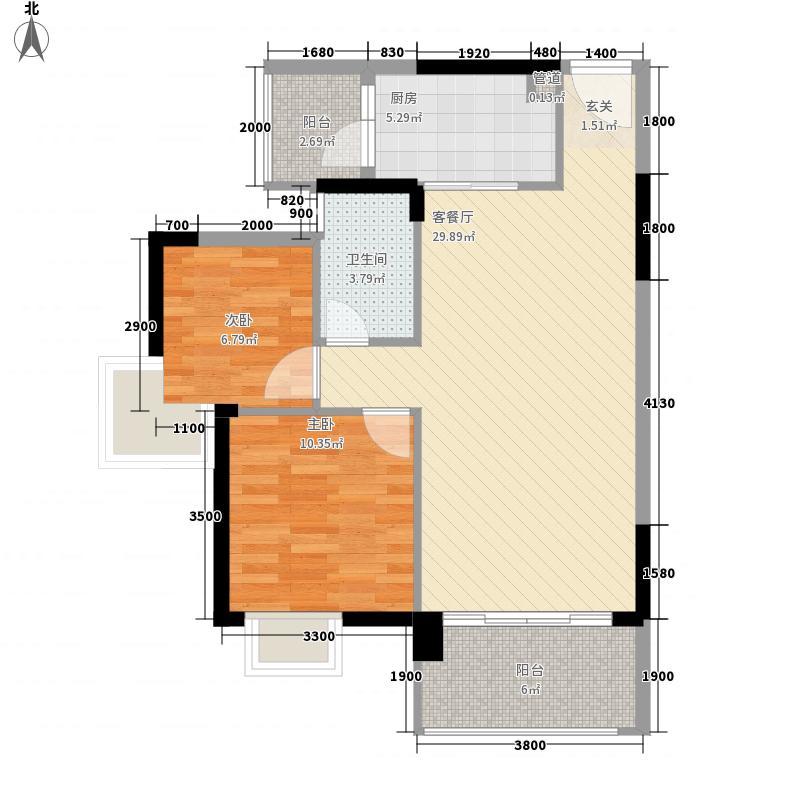 翠湖豪苑32栋1、2单元5-15层E2户型