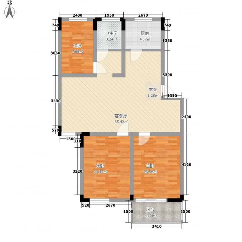 清华苑清华苑户型图三房一厅户型图3室1厅1卫1厨户型3室1厅1卫1厨