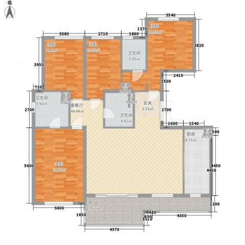 万科翡丽山4室1厅3卫1厨138.71㎡户型图