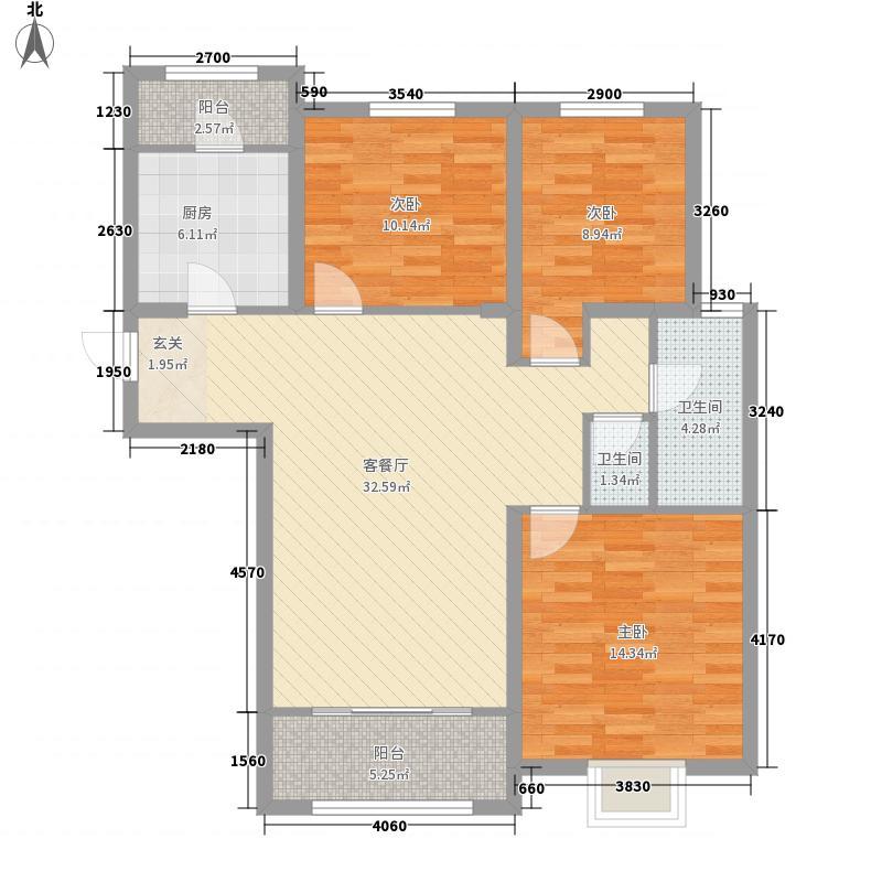 加州香山美树121.00㎡户型3室
