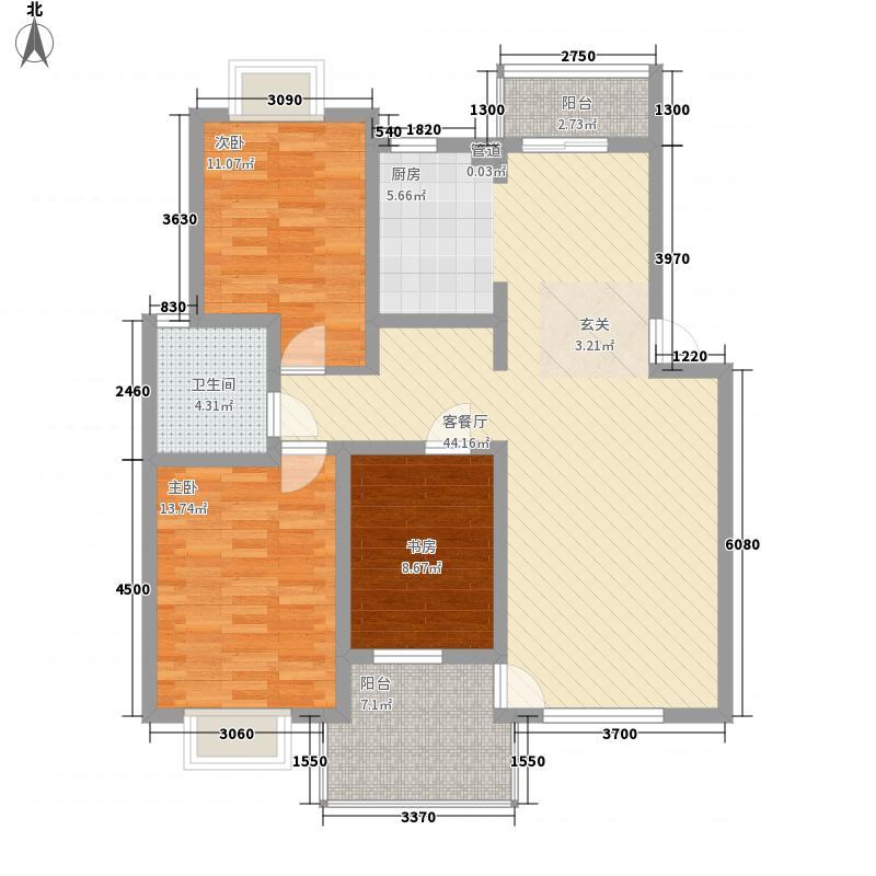 国际华城御园F1单元三室 户型