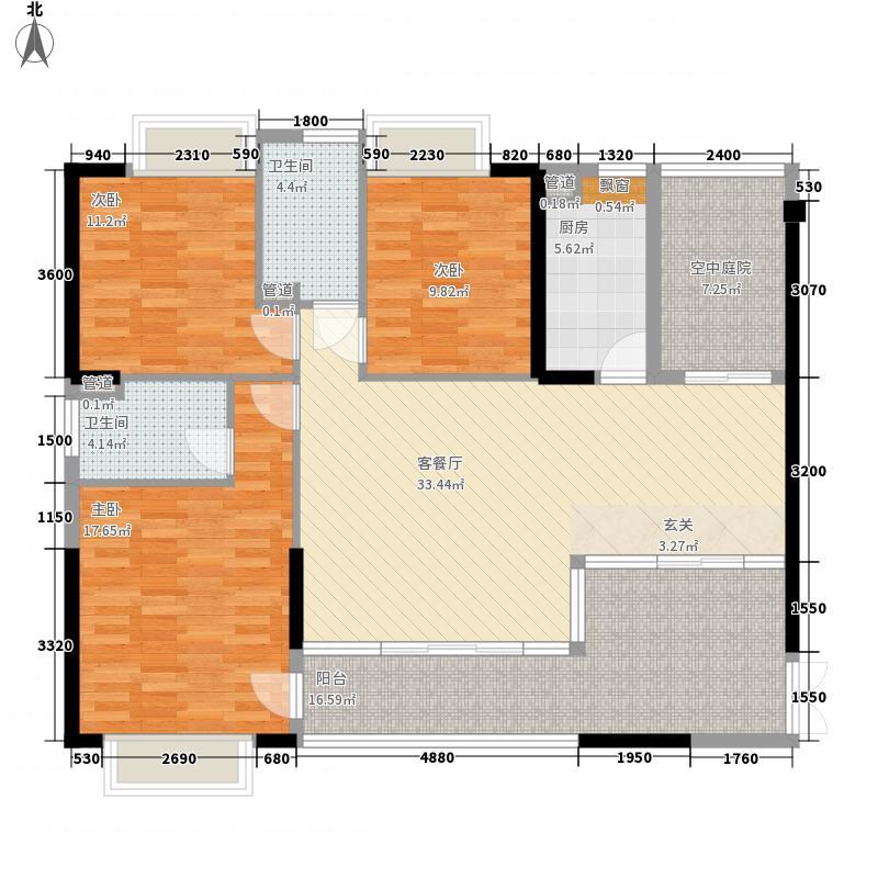 依云上城132.00㎡依云上城户型图D户型132-135㎡3室2厅2卫1厨户型3室2厅2卫1厨