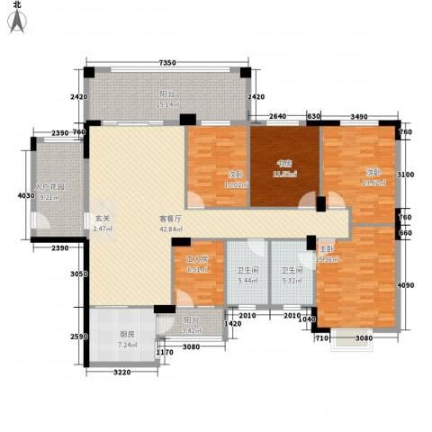 名流印象4室1厅2卫1厨153.00㎡户型图