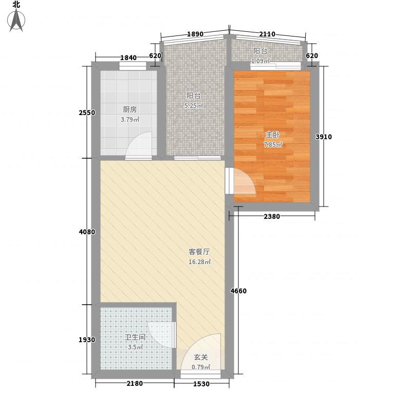 密云行宫65.00㎡小区户型1室