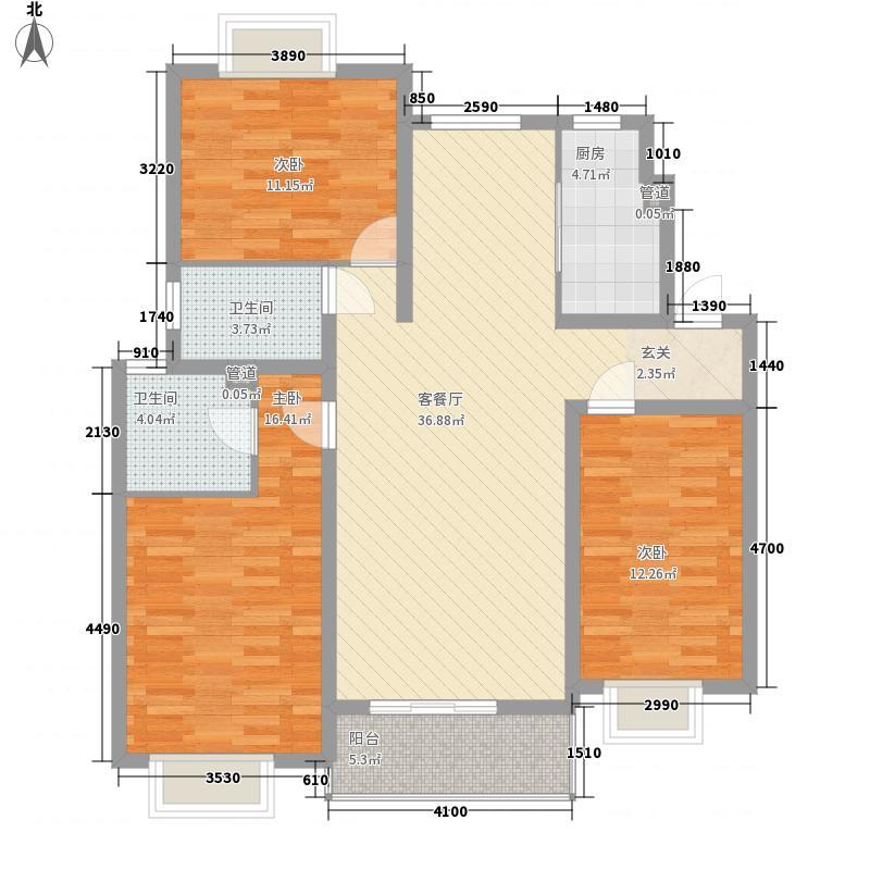 国际华城御园M2单元三室 户型