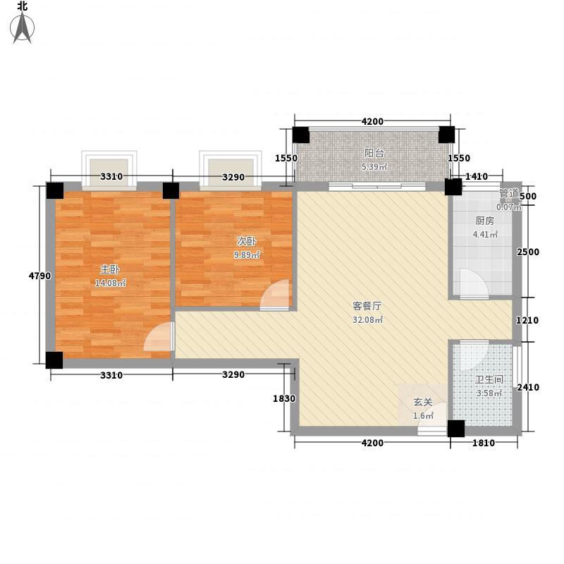 鼎鑫8.88㎡小区2幢0户型2室2厅1卫1厨