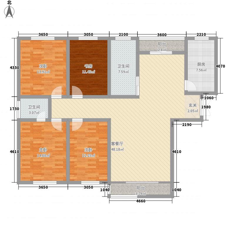 民馨苑17.10㎡C户型4室2厅2卫1厨