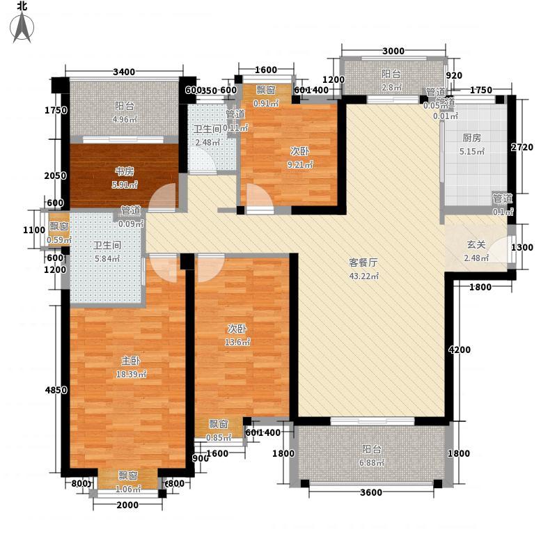 ��温莎公馆158.50㎡2#A梯01单元户型4室2厅2卫1厨