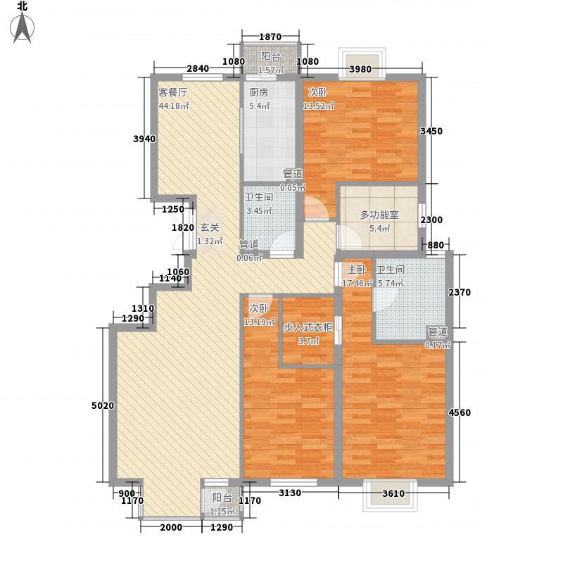 龙湖蓝湖时光154.00㎡户型4室