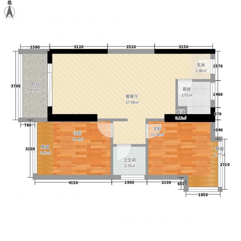 金象领域户型2室
