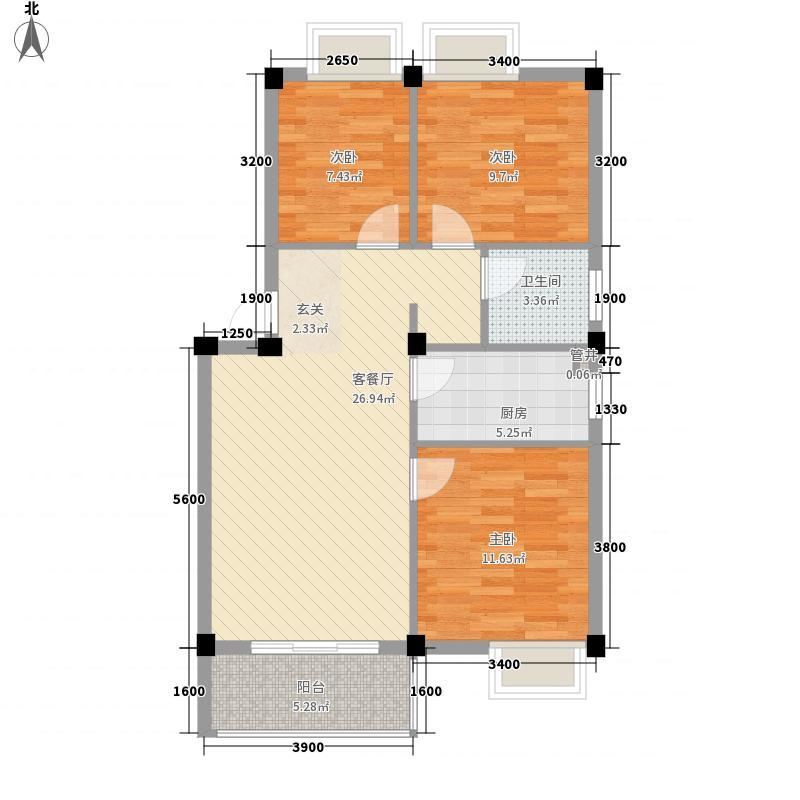 康储山庄114.00㎡户型3室