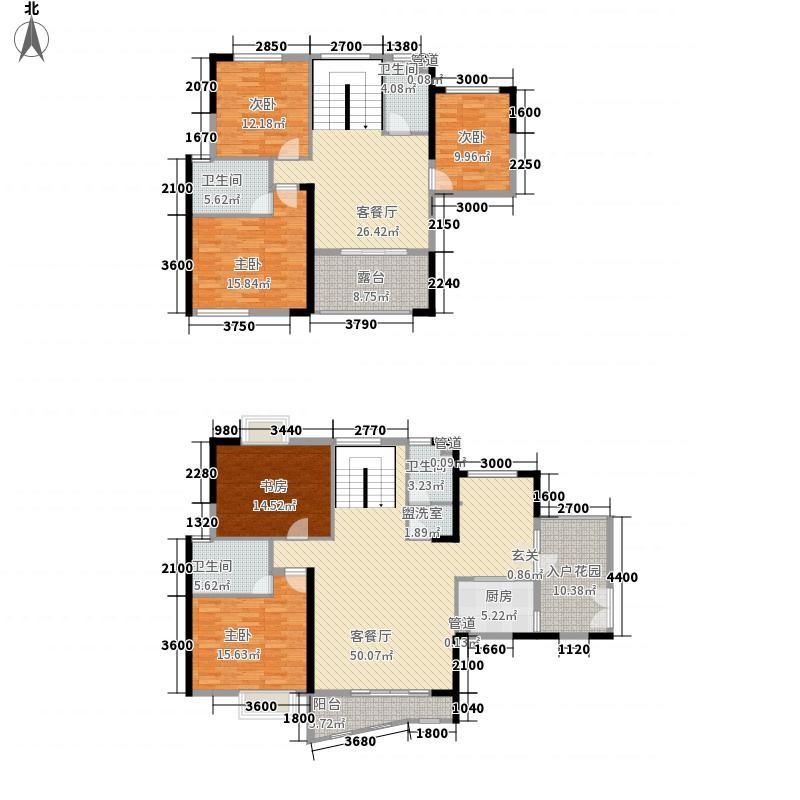 安粮蓝海城市广场226.40㎡E1F户型5室3厅4卫1厨