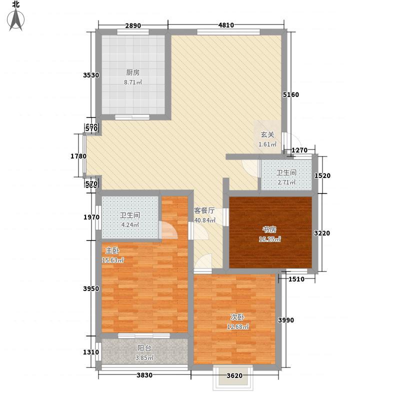 天建天和园141.00㎡户型3室2厅2卫1厨