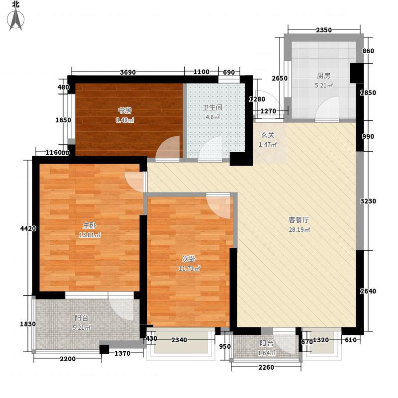 泰禾红树林112.00㎡A7、A8#C户型3室2厅1卫1厨
