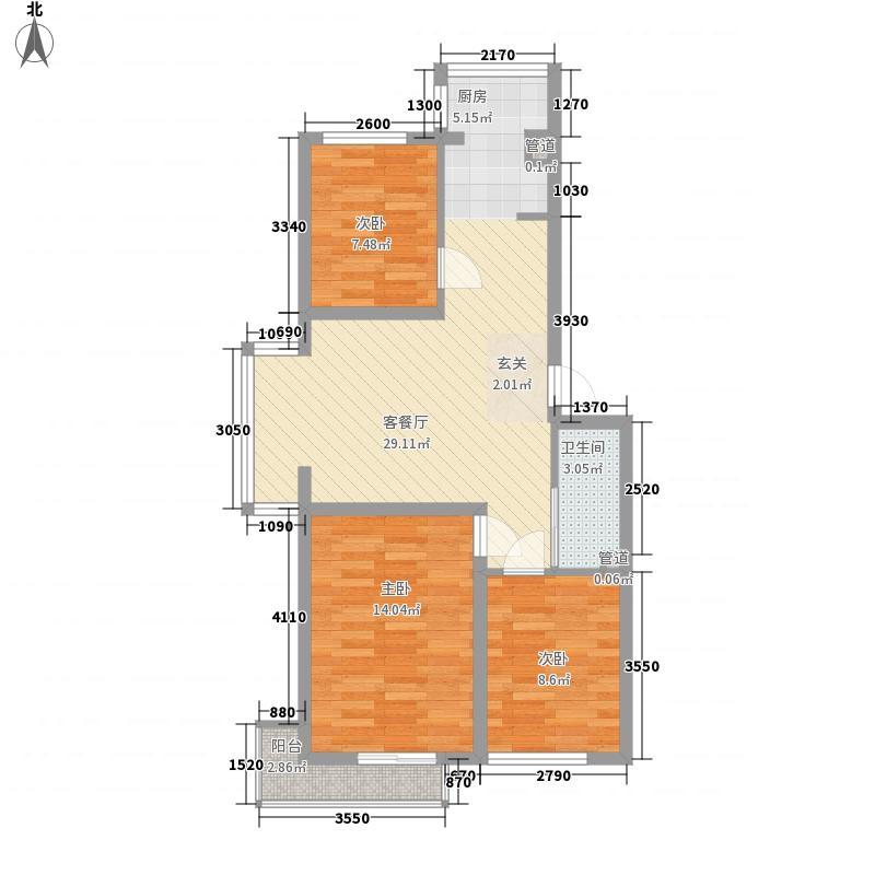 龙凤园户型3室2厅2卫1厨