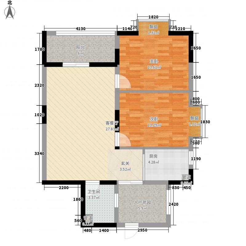 龙凤园户型2室2厅2卫1厨