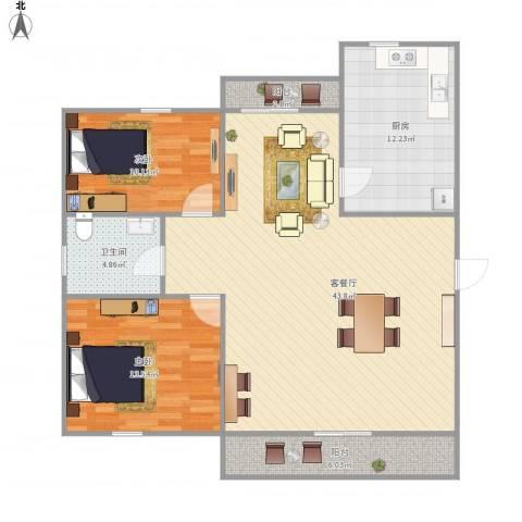 金丰蓝庭三期-221-992室1厅1卫1厨124.00㎡户型图