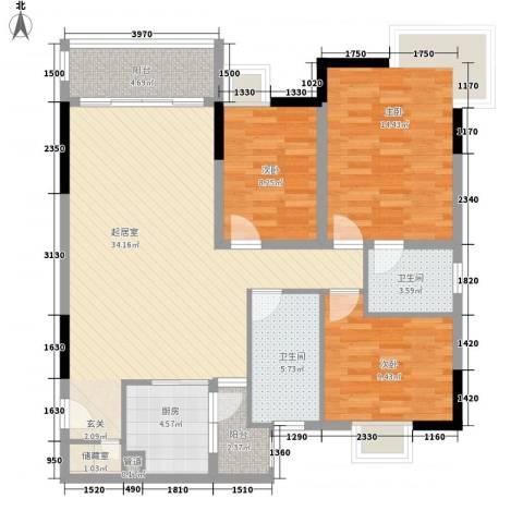 颐和人家3室0厅2卫1厨126.00㎡户型图