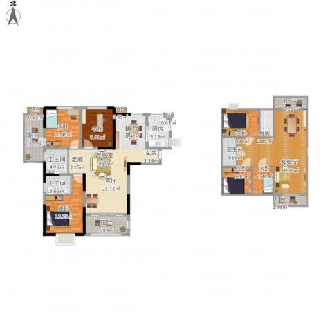 安大磬苑6室1厅3卫2厨223.00㎡户型图