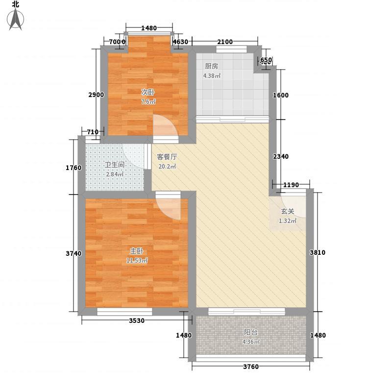 中和街74.00㎡小区户型2室