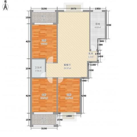 康城壹品3室1厅1卫1厨123.00㎡户型图