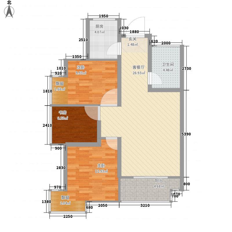 曲江林语3号楼E1户型