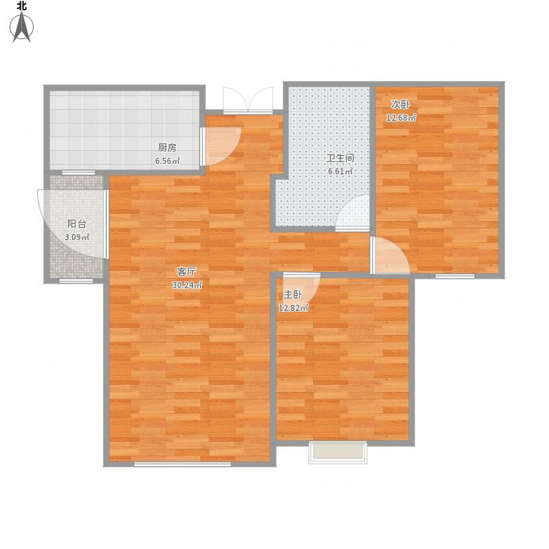 邯郸-小高层托斯卡纳X5户型-设计方案