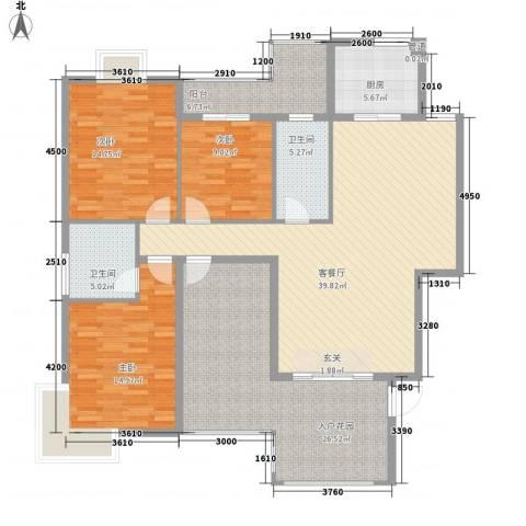阳光翠庭3室1厅2卫1厨178.00㎡户型图