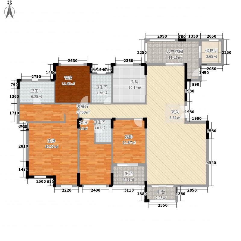 名门紫园242.81㎡1、15、28号楼402户型5室2厅3卫1厨