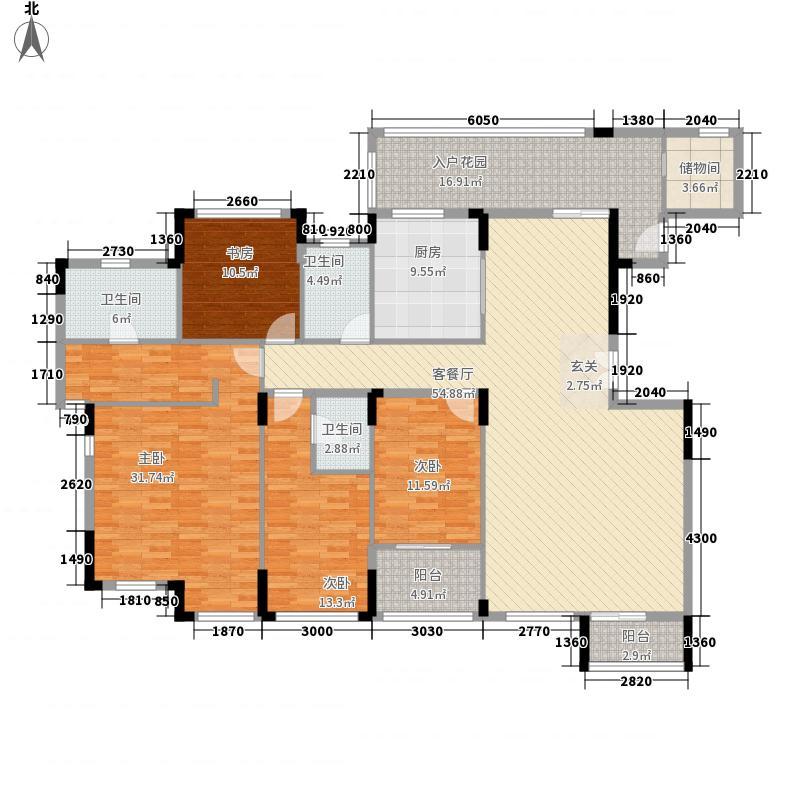 名门紫园242.81㎡1、15、28号楼302户型5室4厅3卫1厨