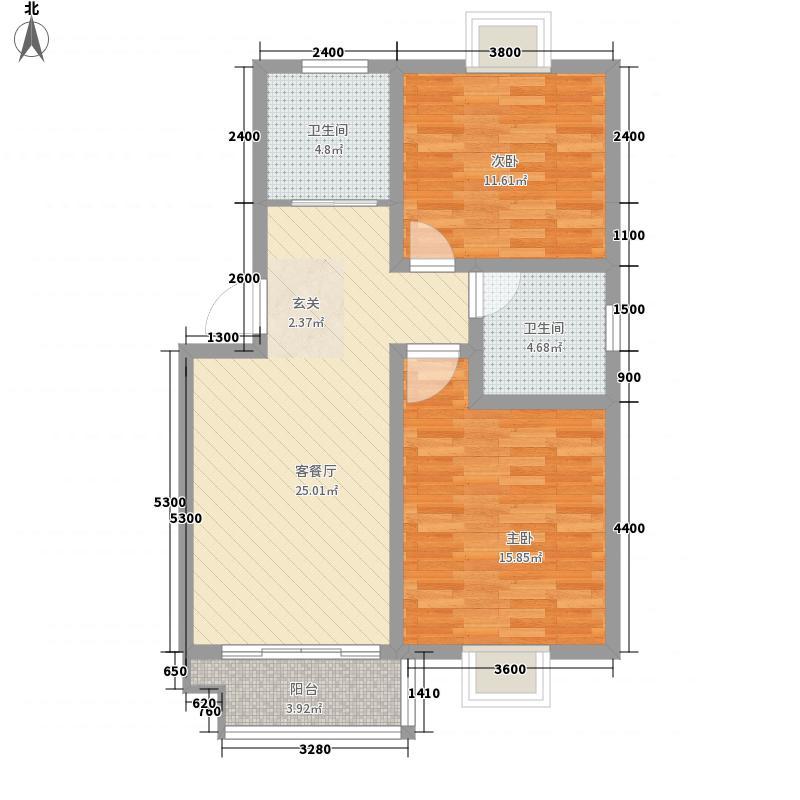 口岸外商公寓户型2室