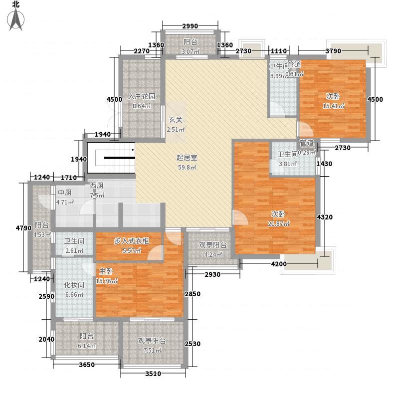 五指山水林溪2栋-A3-f下层户型3室2厅2卫2厨