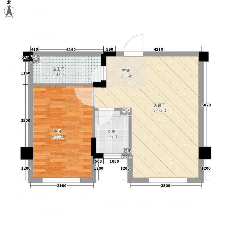 颐和香榭62.00㎡户型1室1厅1卫1厨