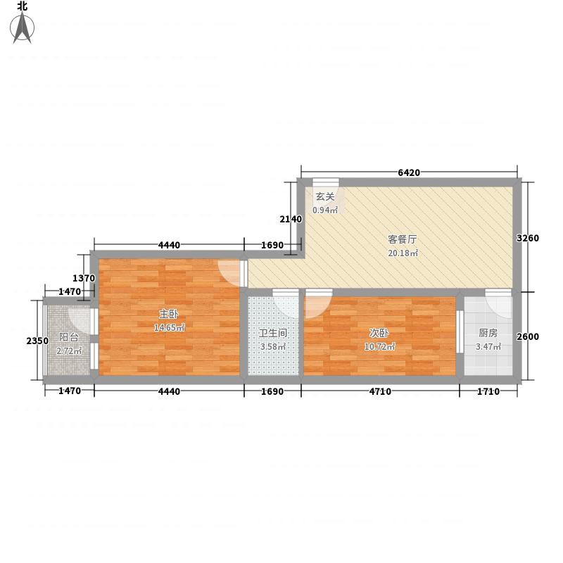 亚太新村6.00㎡C户型2室1厅1卫1厨