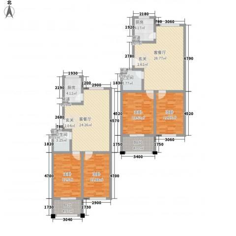 天波嘉和苑4室2厅2卫2厨181.00㎡户型图
