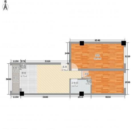 锦绣嘉苑2室1厅1卫0厨83.00㎡户型图