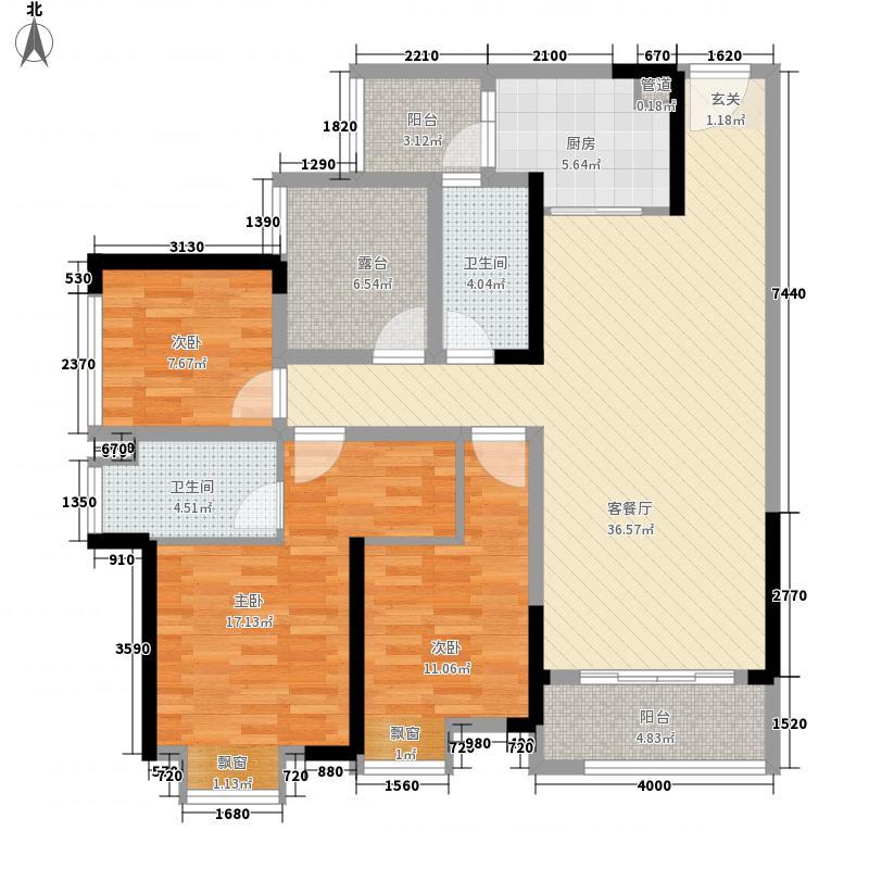 金瓯理工国际1期高层1、6、7、8、9幢标准层D户型
