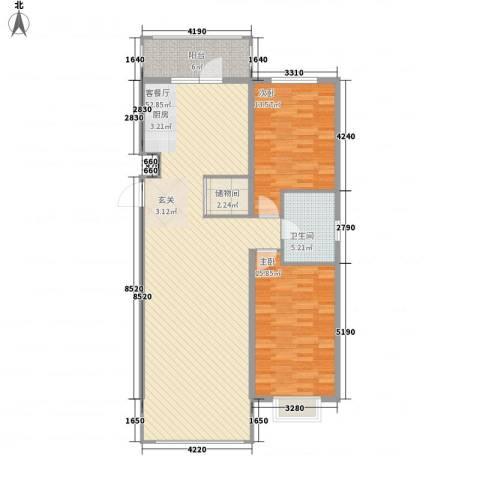 世纪花园2室1厅1卫0厨95.71㎡户型图