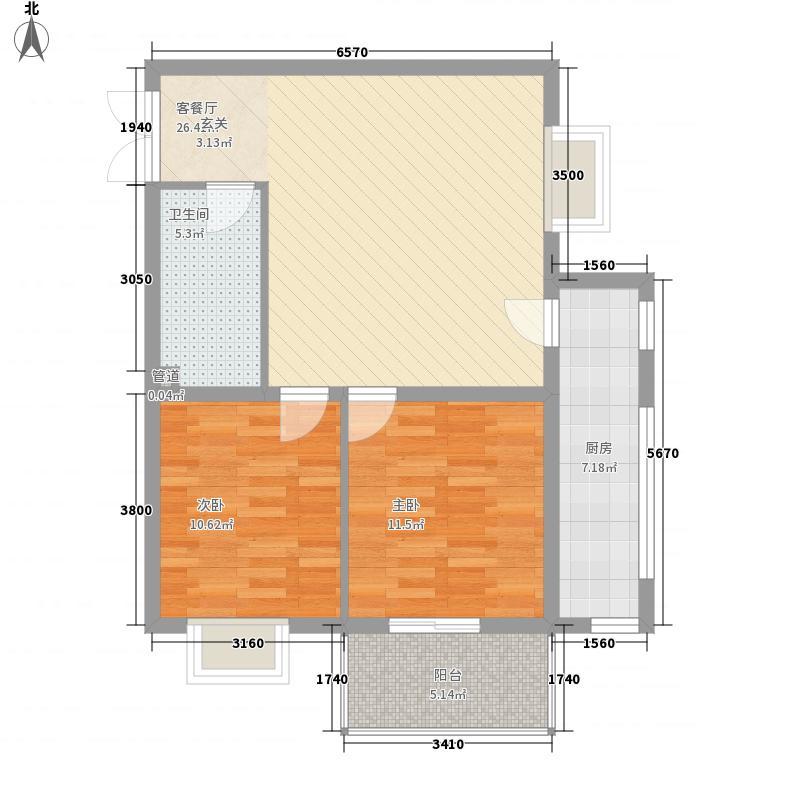 南环国际名邸4.23㎡1-02户型2室1厅1卫1厨