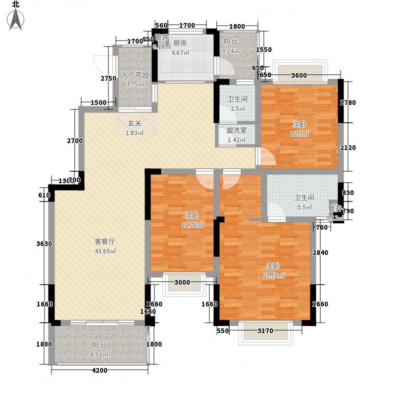 公交宿舍3-2-2-1-3户型3室2厅2卫1厨