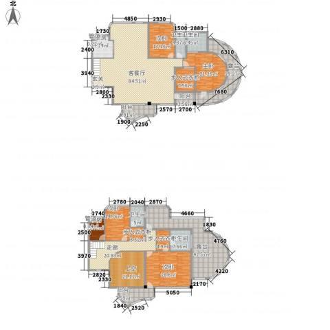 蓝湾国际5室1厅4卫1厨339.68㎡户型图