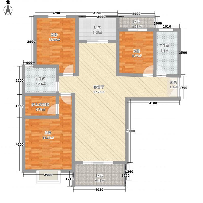 龙湖一号14.00㎡C户型3室2厅2卫1厨