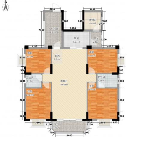 御景华城4室1厅2卫1厨174.00㎡户型图